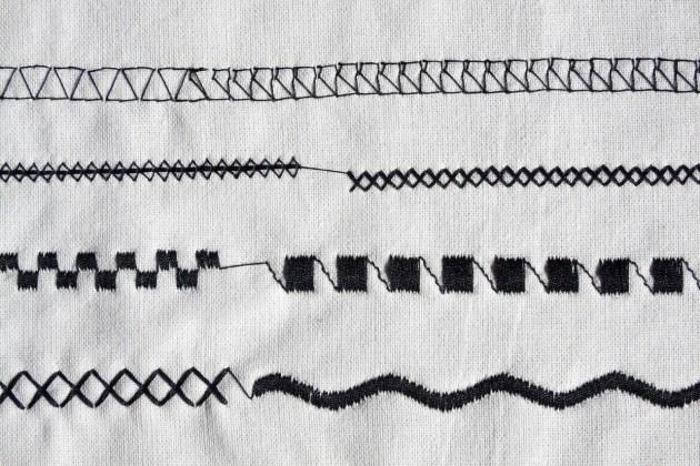 sewing-machine stitches