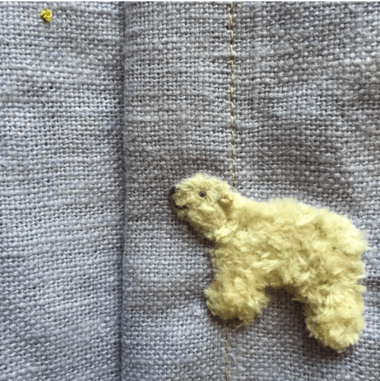 tiny polar bear embroidery beautiful