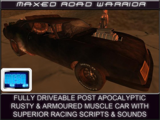 MAXED ROAD WARRIOR DRIVEABLE MUSCLE CAR