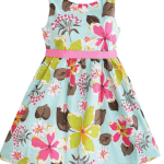 Sunny Fashion Girls Dress With Blue Flower Print only $10.27 Shipped