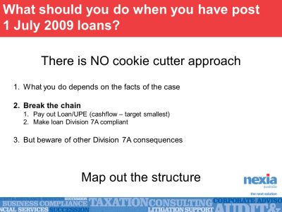 Division 7A – Quarterly Roadshow Business Services Discussion - ppt download