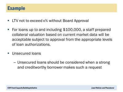 CDFI Loan Policies and Procedures Portfolio Management Series Webinar - ppt video online download