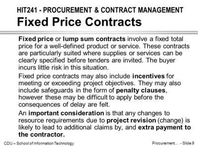 HIT241 - PROCUREMENT & CONTRACT MANAGEMENT Introduction - ppt video online download