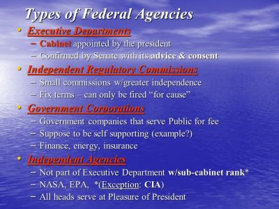 Chapter 13- The Federal Bureaucracy - ppt download