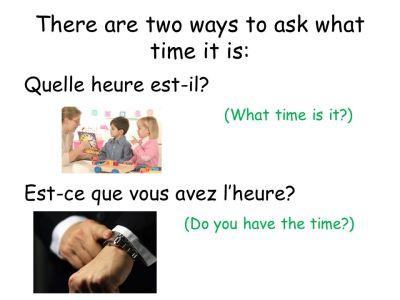 Leçon 2B – Structure (avoir & telling time) - ppt video online download