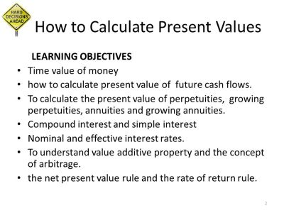 Present value, annuity, perpetuity - ppt download
