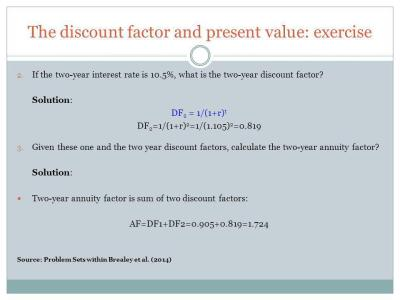 How to calculate present values - ppt download