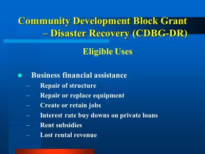 Vermont's CDBG Disaster Recovery Program - ppt video online download