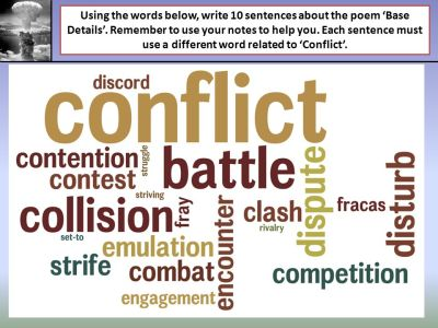 Base Details Learning Objective: To explore the theme of conflict as it is shown in Base Details ...