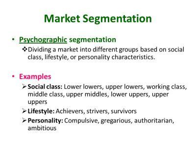 Market Segmentation Market Targeting Differentiation and ...