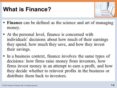 Objectives Define finance and the managerial finance function. - ppt download