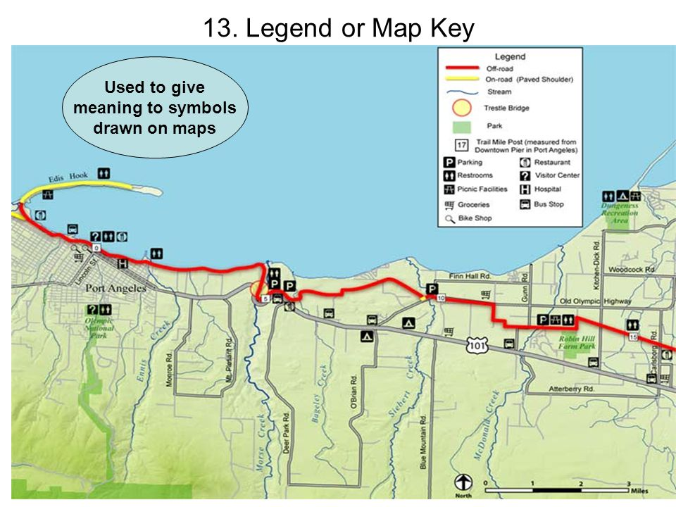 map key definition     13  legend or map key used to give meaning to symbols drawn on maps