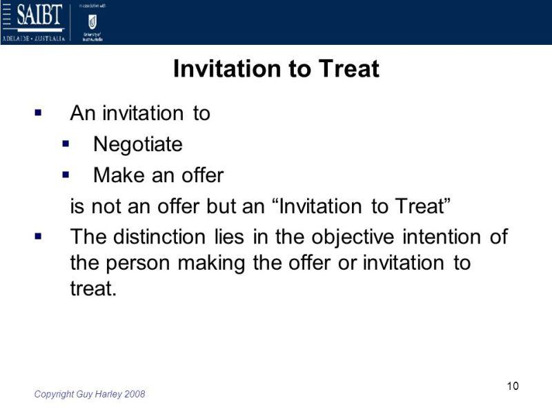 Invitation to treat and offer invitationswedd 10 invitation to treat week 4 law of contract offer and acceptance ppt stopboris Choice Image