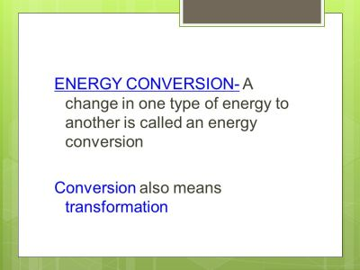 Energy Forms What are the most common forms of energy in our physical world and how do they ...