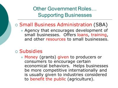 Government's Role In Domestic Business - ppt video online download