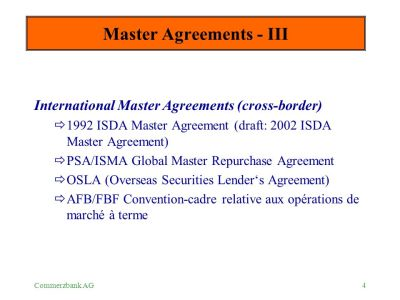 OTC - Master Agreements - ppt download