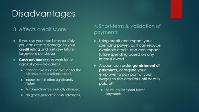 Advantages & Disadvantages of Credit Cards - ppt video online download