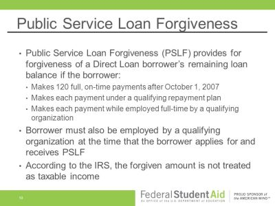 Income-Driven Repayment Plans & Public Service Loan Forgiveness - ppt download