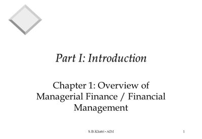 Chapter 1: Overview of Managerial Finance / Financial Management - ppt download