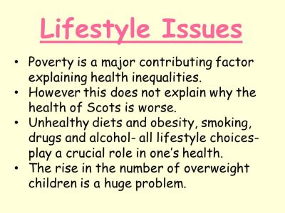 Lesson Starter Health inequalities are result of poor ...