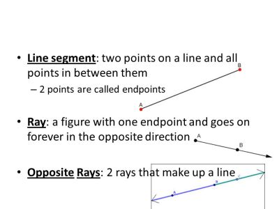 1.3: Segments, Rays, and Distance - ppt download