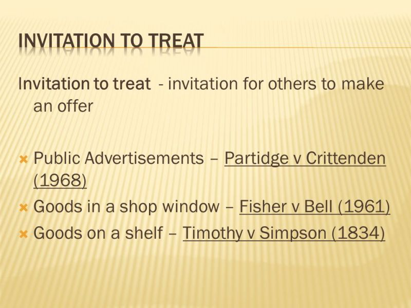 Invitation to treat and offer invitationswedd 9 invitation to treat definition of offer an expression willingness to contract on stopboris Choice Image