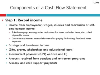 Learning Objective # 3 Develop a personal balance sheet and cash flow statement. - ppt download