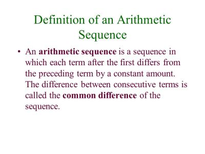 Definition of a Sequence - ppt video online download