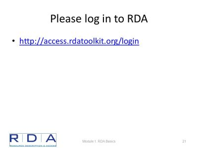 Module 1 RDA Basics FRBR and RDA - ppt download
