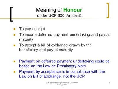 UCP 600 and Its Legal Aspects - ppt download