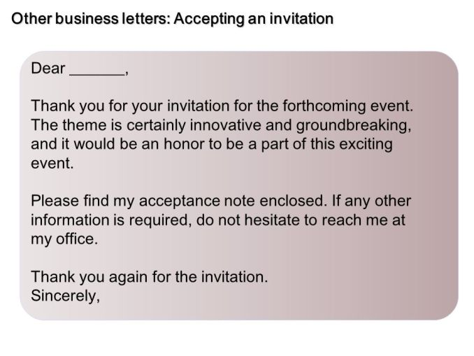 How to write a formal letter accepting an invitation accepting invitation letter sample newsinvitation co expocarfo Choice Image