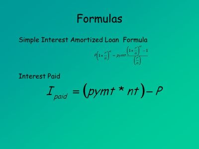 Amortized Loans (MAT 142) Amortized Loans. - ppt download