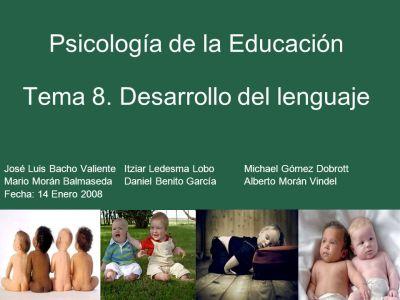Psicología de la Educación Tema 8. Desarrollo del lenguaje - ppt video online descargar