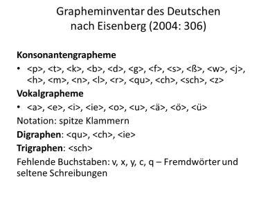Graphemik und Orthographie - ppt video online herunterladen