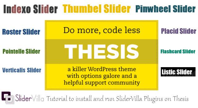 SliderVilla Tutorial for Thesis Framework