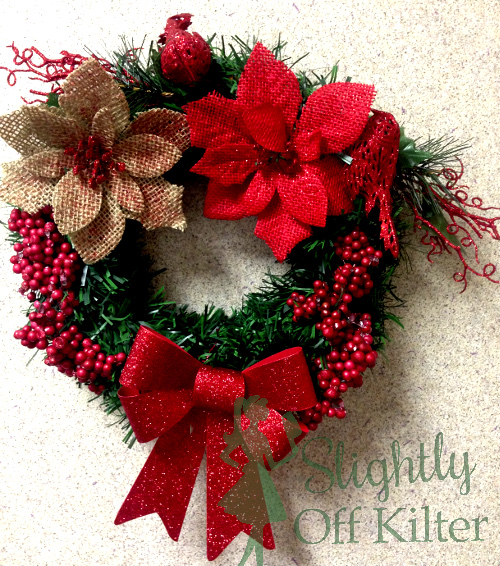 Christmas Wreath With The Dollar Tree
