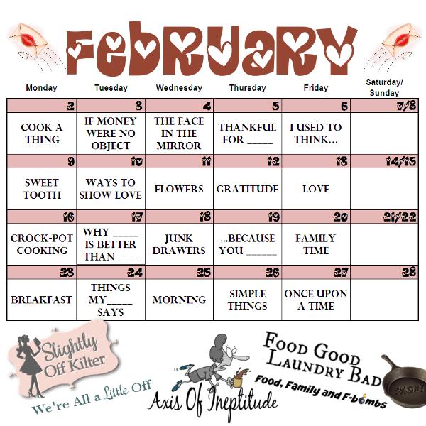 February Blogging Challenge