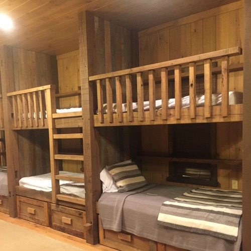 Bunks at camp lonehollow