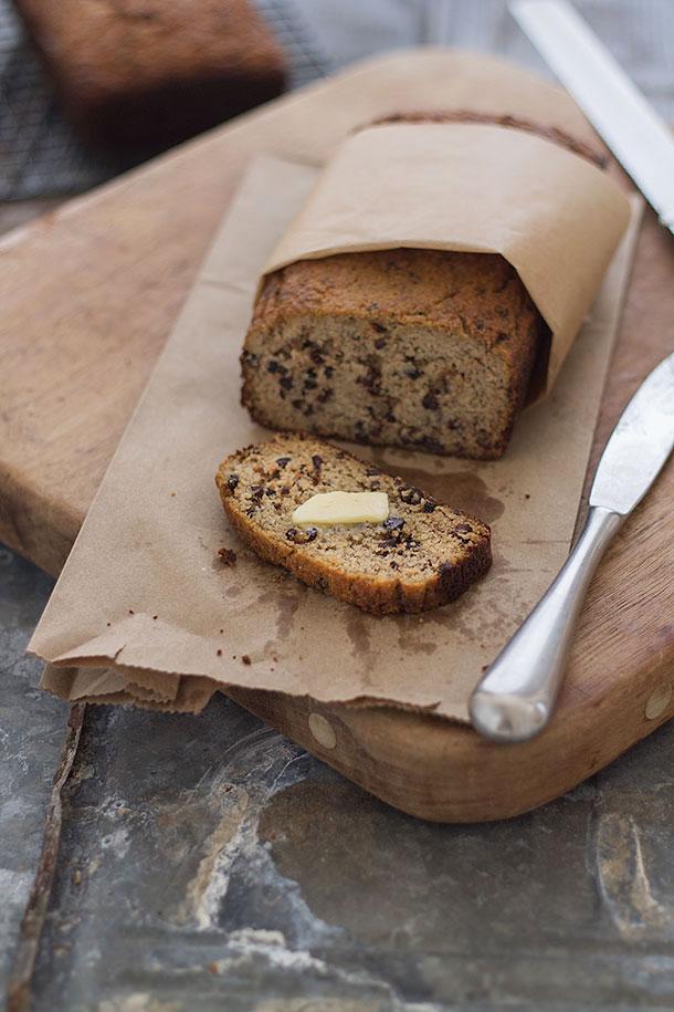 Paleo Moist Banana Raisin Bread
