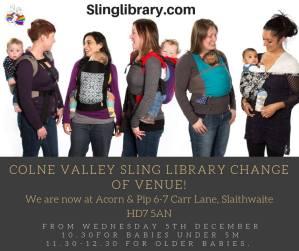Colne Valley Sling Library 4th Trimester Workshop - Acorn & Pip, Slaithwaite @ Acorn & Pip | Golcar | England | United Kingdom
