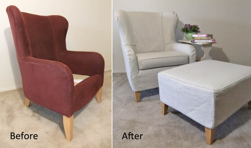 Large Of Wingback Chair Covers