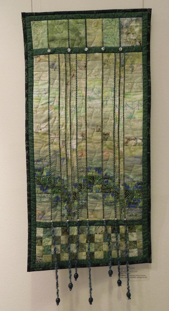 """Rain,"" an Art Quilt by Kathy Howard"