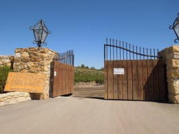 Gate to Old Eagle Castle Half Open