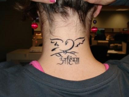 neck tattoo design for girls