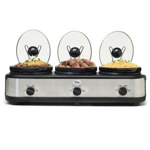 MaxiMatic Elite Platinum Triple Slow Cooker