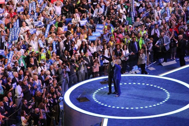 Sarah Burris, President Barack Obama Hillary Clinton, CC BY https://flic.kr/p/JCR5JJ