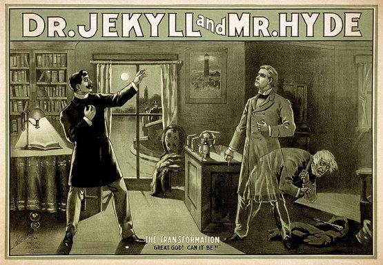 1880년대 당시 [지킬 박사와 하이드씨] 연극 포스터