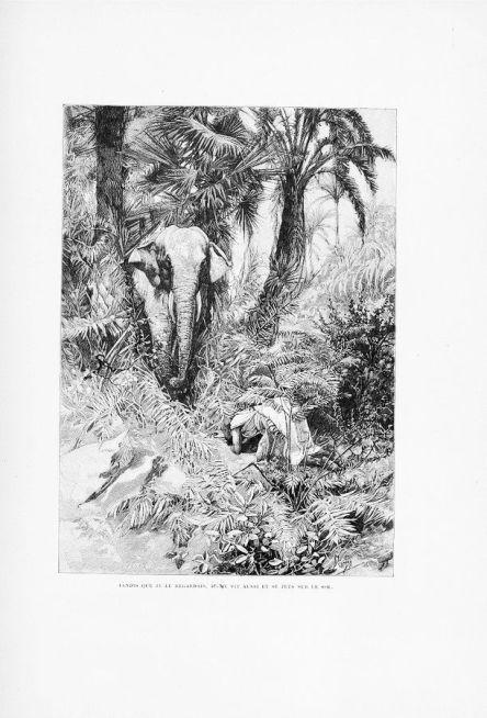 알폰스 무하의 삽화 [하얀 코끼리의 전설],1894년