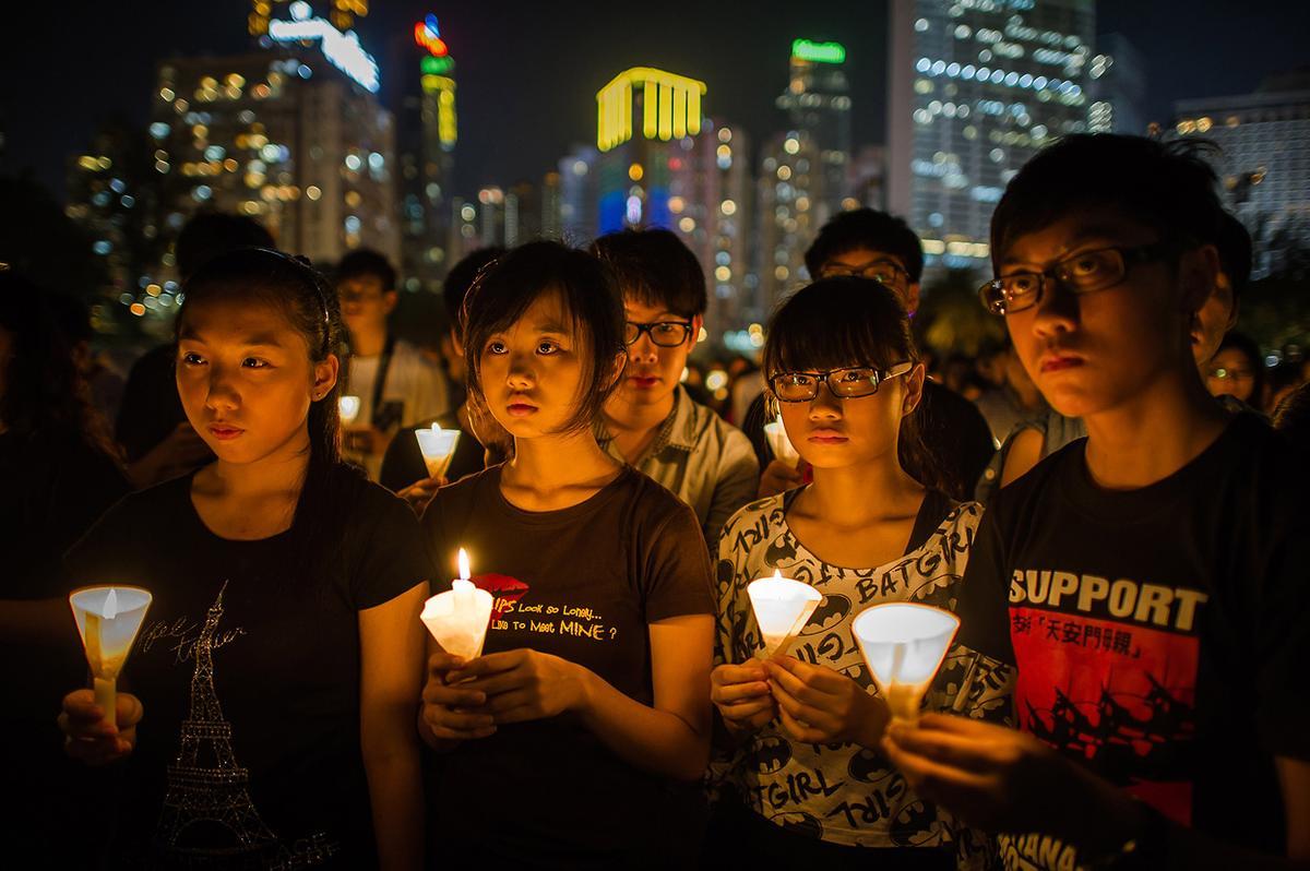 2012년 6월 4일, 천안문 민주화 운동을 기리는 홍콩 시민들 (출처: AFP)