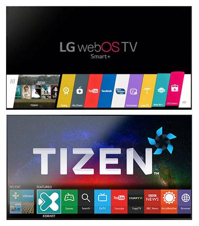 LG 웹OS, 삼성 타이젠
